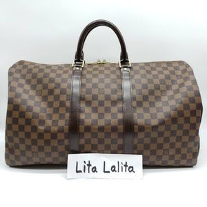 Louis Vuitton Keepall 50 Damier Ebene